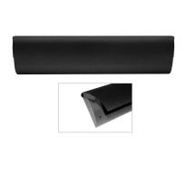 CC Tochtklep zwart 86x345mm
