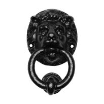 Deurklopper leeuwenkop zwart KP0896