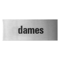 GPF0401.09.0002 deurbordje 'Dames' rechthoekig, 50x130x1 mm