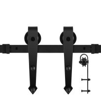 GPF0504.61 schuifdeursysteem Nuoli zwart