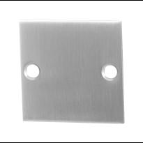 GPF0900.08 blinde rozet 50x50x2mm RVS geborsteld
