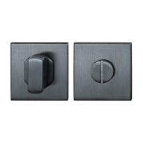 GPF0910.02P1 toiletgarnituur 50x50x8mm stift 8mm PVD antraciet