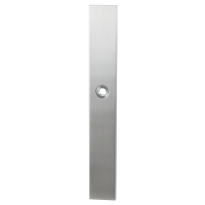 GPF1100.75 langschild XL rechthoekig RVS geborsteld