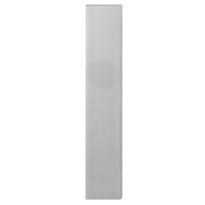 GPF1200.25 langschild rechthoekig RVS geborsteld