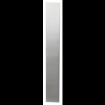 GPF1200.75 langschild XL rechthoekig RVS geborsteld
