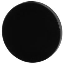 GPF6900VZ blinde rozet 53x6mm zwart egaal