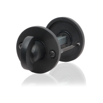GPF6910.00 toiletgarnituur 53x5mm stift 8mm smeedijzer zwart