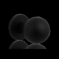 GPF8822.61 zwart kogel voordeurknop 63mm