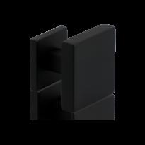GPF8825.61zwart vierk. voordeurknop 70mm
