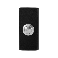 GPF8827.01 zwarte deurbel rechthoekig 70x32x10 mm