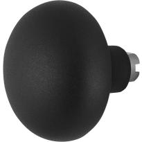 GPF8849.61 Paddenstoel knop veiligheidsschilden vast zwart 65mm