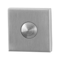 GPF9827.02 deurbel RVS vierkant 50x50x8 mm RVS geborsteld