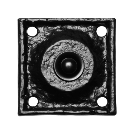 KP1759 deurbel landelijk vierkant 62 mm smeedijzer zwart