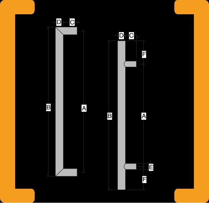 GPF deurgrepen met maattabellen voor maatwerk