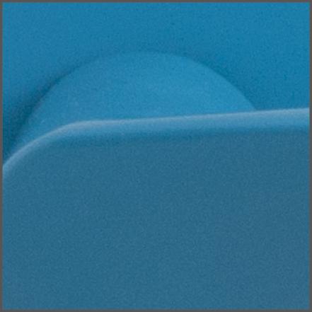 Detail finish blauw