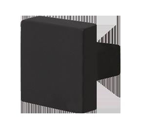 GPF zwart vierkante deurknop vast
