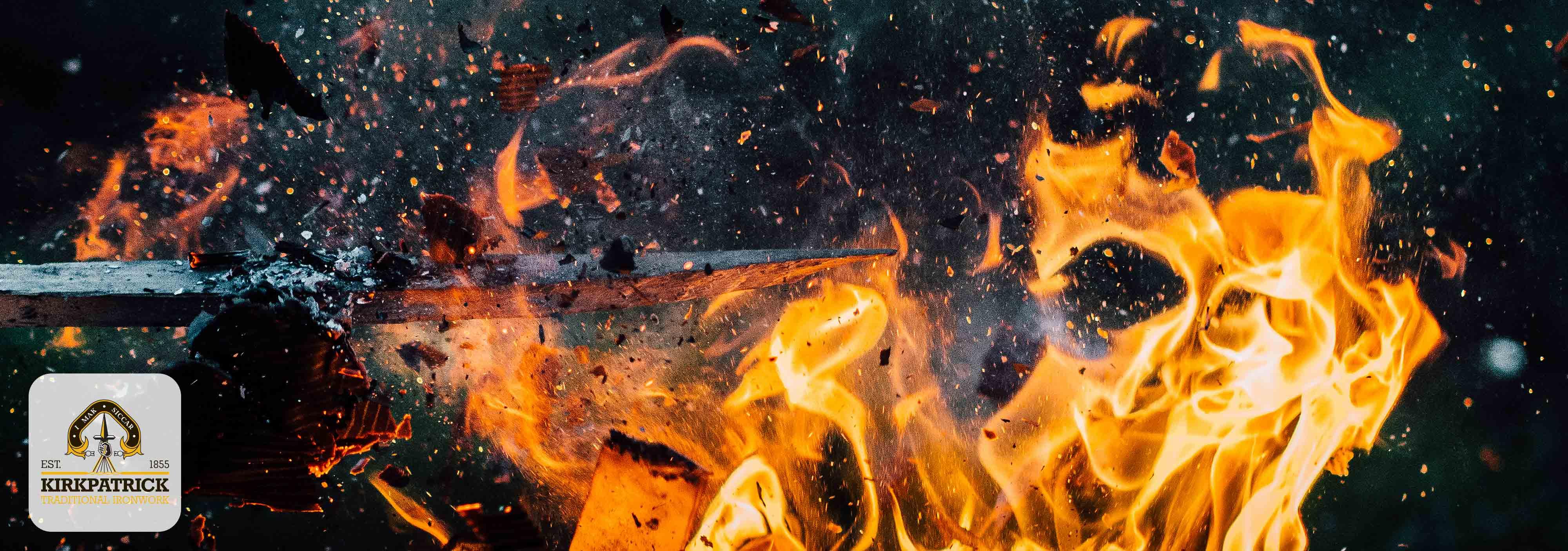 Hete oven voor het smelten van ijzer