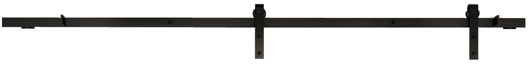 GPF schuifdeurrail in zwart