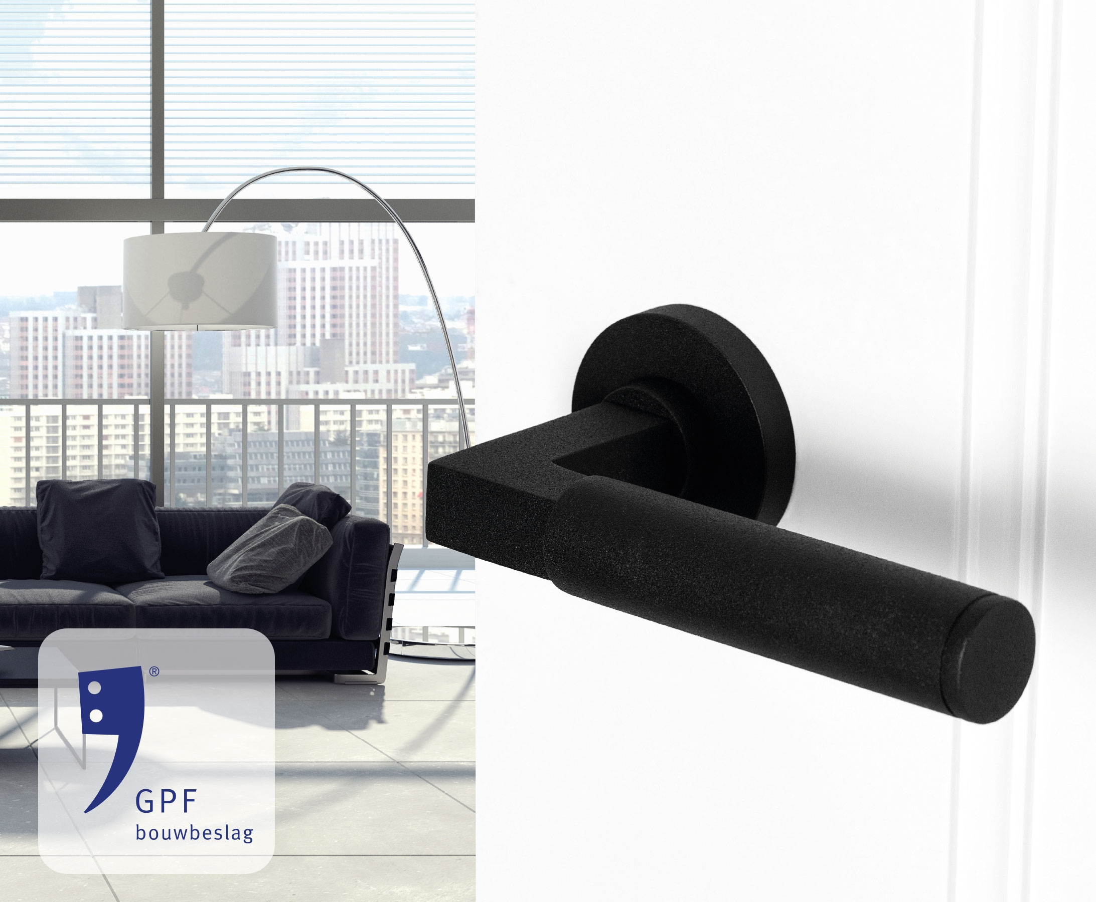 GPF bouwbeslag finish zwart sfeerafbeelding